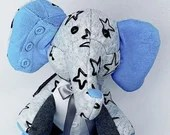 SMALL Memory Elephant, plush elephant, made from your clothes, micro preemie gift, bereavement gift, keepsake elephant