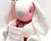 SMALL Memory Bunny, custom memory bunny, rabbit, memory bear, baby gift, personalized bear, bereavement gift, keepsake bunny, father's day