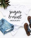 White T Shirt Mockup Bella Canvas Knotted White Tee Etsy