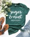 Bella Canvas Mockup 3001 Forest Green Unisex T Shirt Etsy