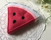 Felt play food, watermelon, fruit toys, fruit, watermelon slice, pretend play, healthy food, play kitchen, Montessori, market toys, healthy