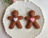 Felt Play Food, Gingerbread, Gingerbread Man, Biscuits, Children's Toy, Pretend Play, Felt Cookies, Tea Party, Bakery Toys, Play Kitchen