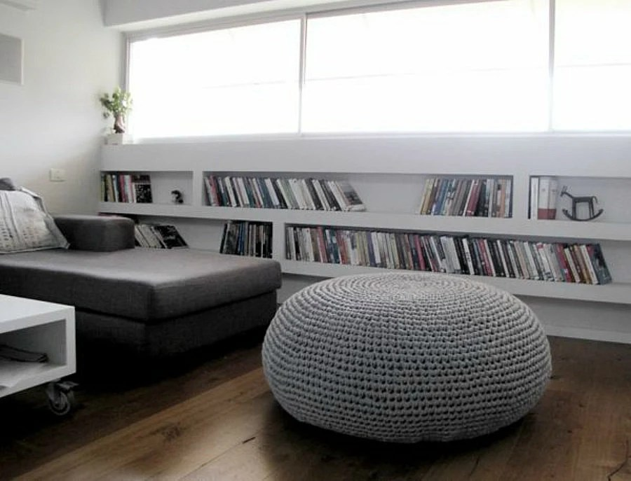 giant pouf ottoman xxxl knitted pouffe modern bean bag chair oversize round ottoman coffee table modern daybe cushion wedding gift