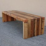 Reclaimed Wood Bench Coffee Table Choose Your Size Timeworn Box Joint Design