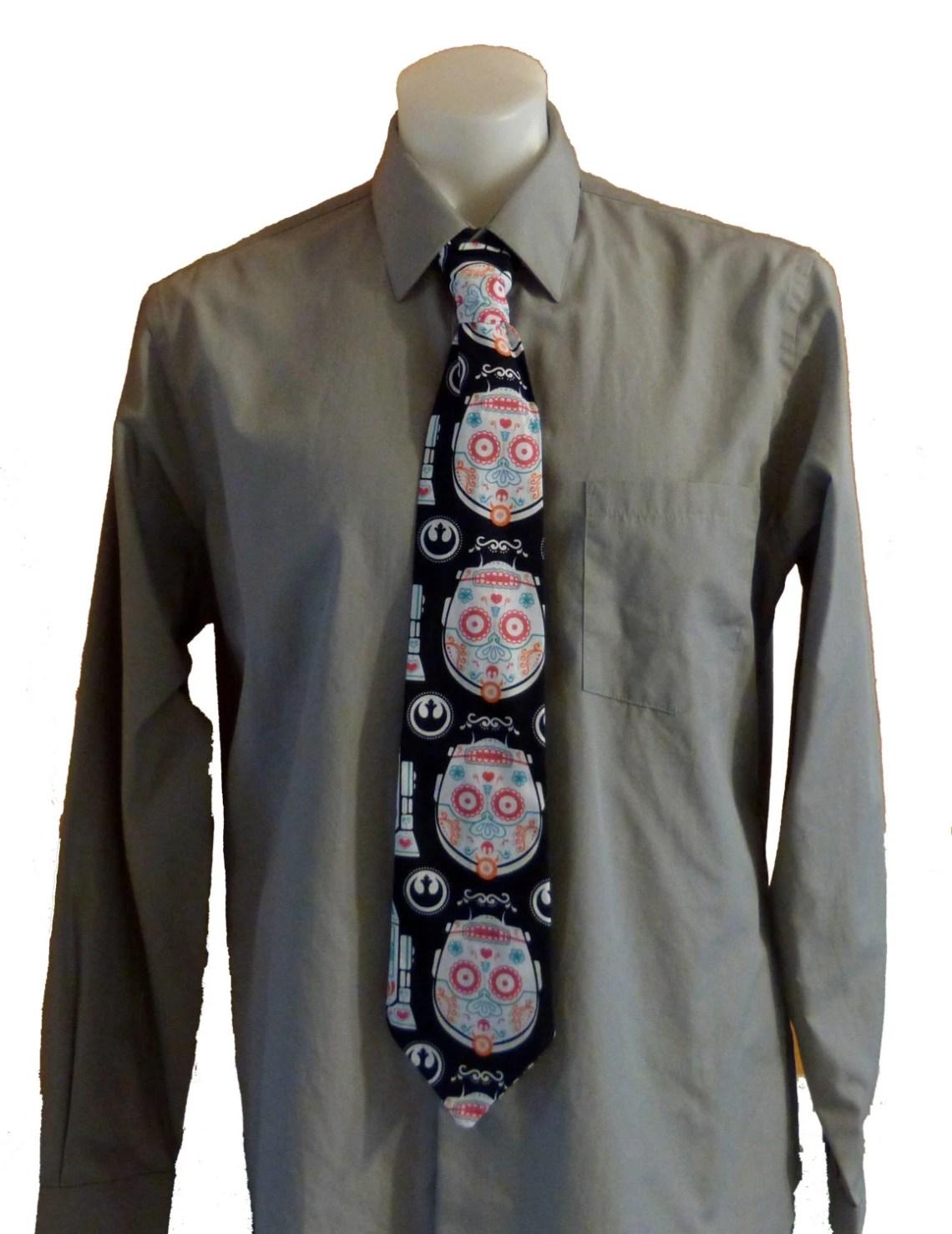 Star Wars Sugar Skulls C3PO Necktie