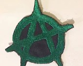 Anarchy Patch, Iron-On Patch, Sew-On Patch, Cyberpunk Patch