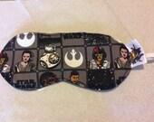Star Wars The Force Awakens Dark Heroes Sleep Mask,  Star Wars Sleep Mask, Geeky Gift, Eye Mask, Star Wars Eye Mask, Star Wars gift