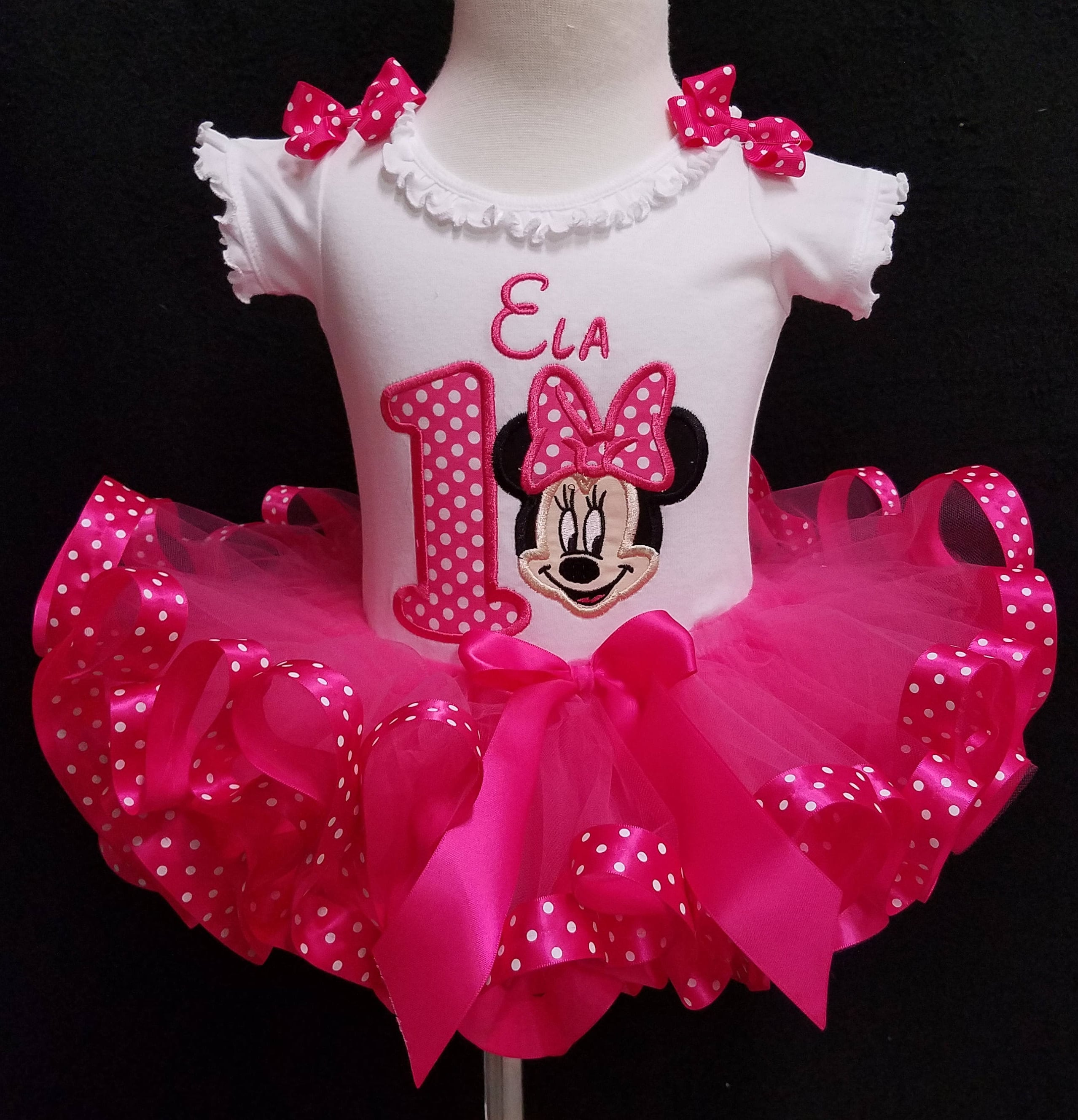 Purchase First Birthday Outfit Girl Minnie Mouse Up To 66 Off