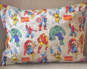 marvel pillowcase etsy