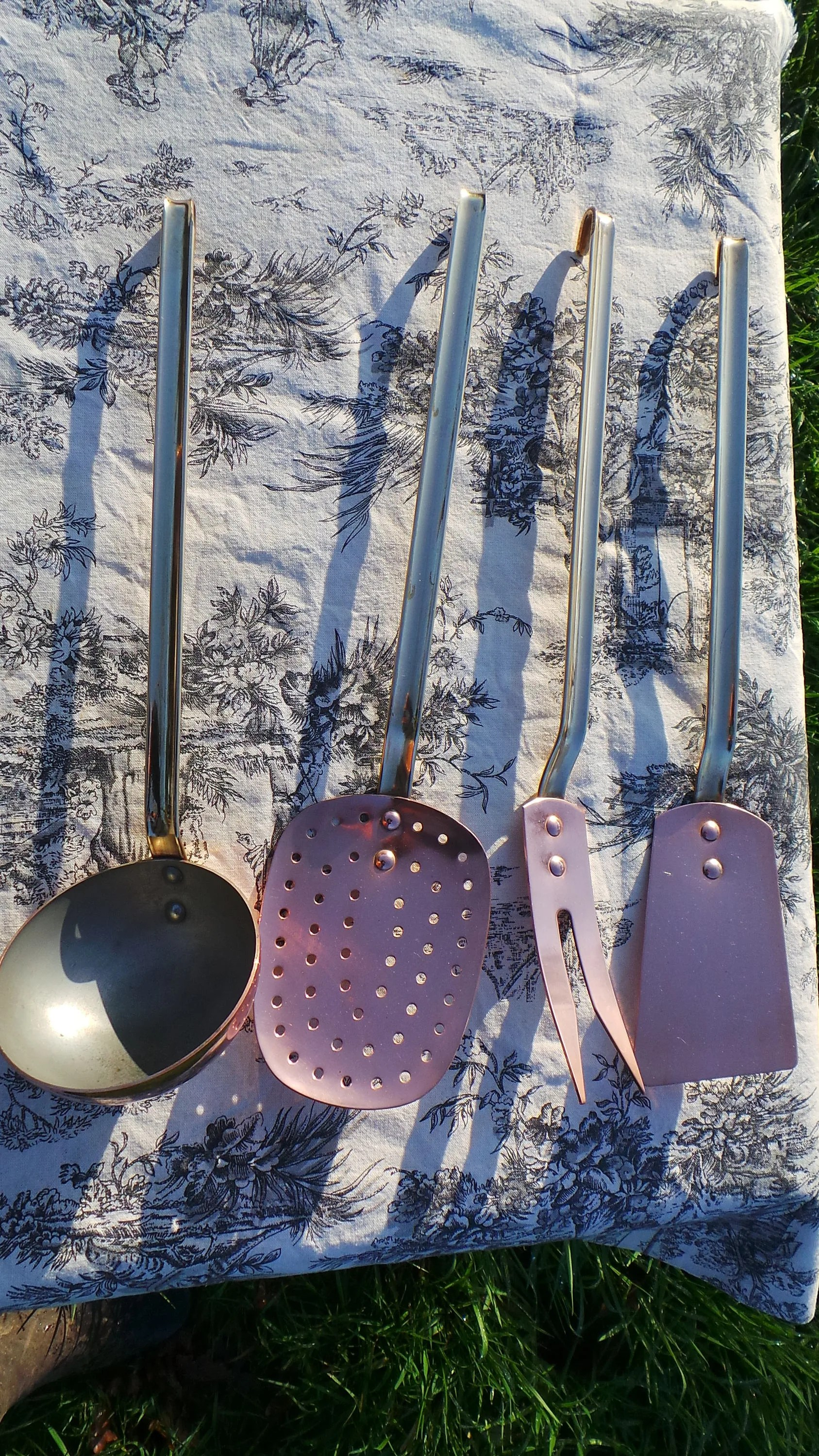 Copper Utensils Quality Vintage French Copper And Brass Heavy Set Of Copper Kitchen Utensils