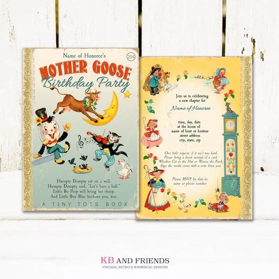 vintage printable mother goose nursery