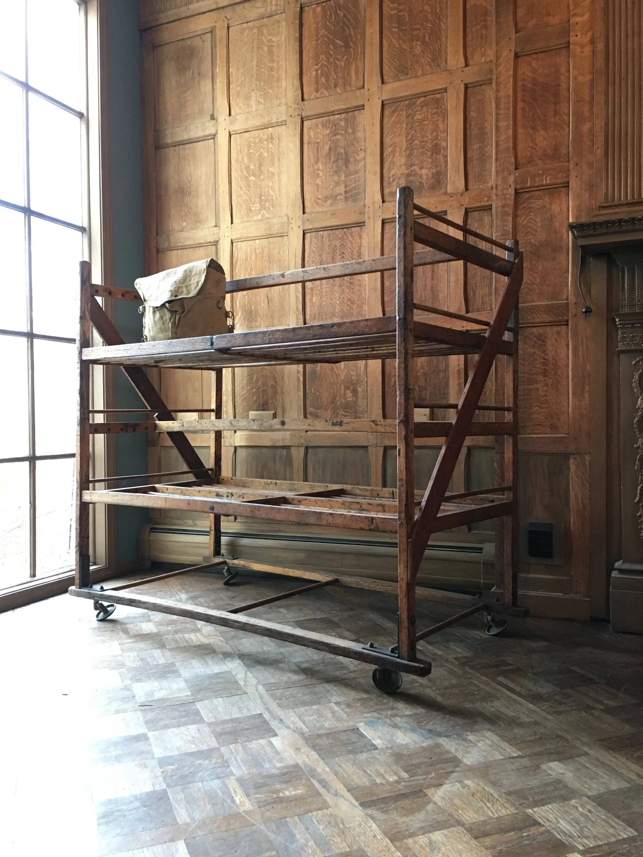 large antique bakers rack wood bakers