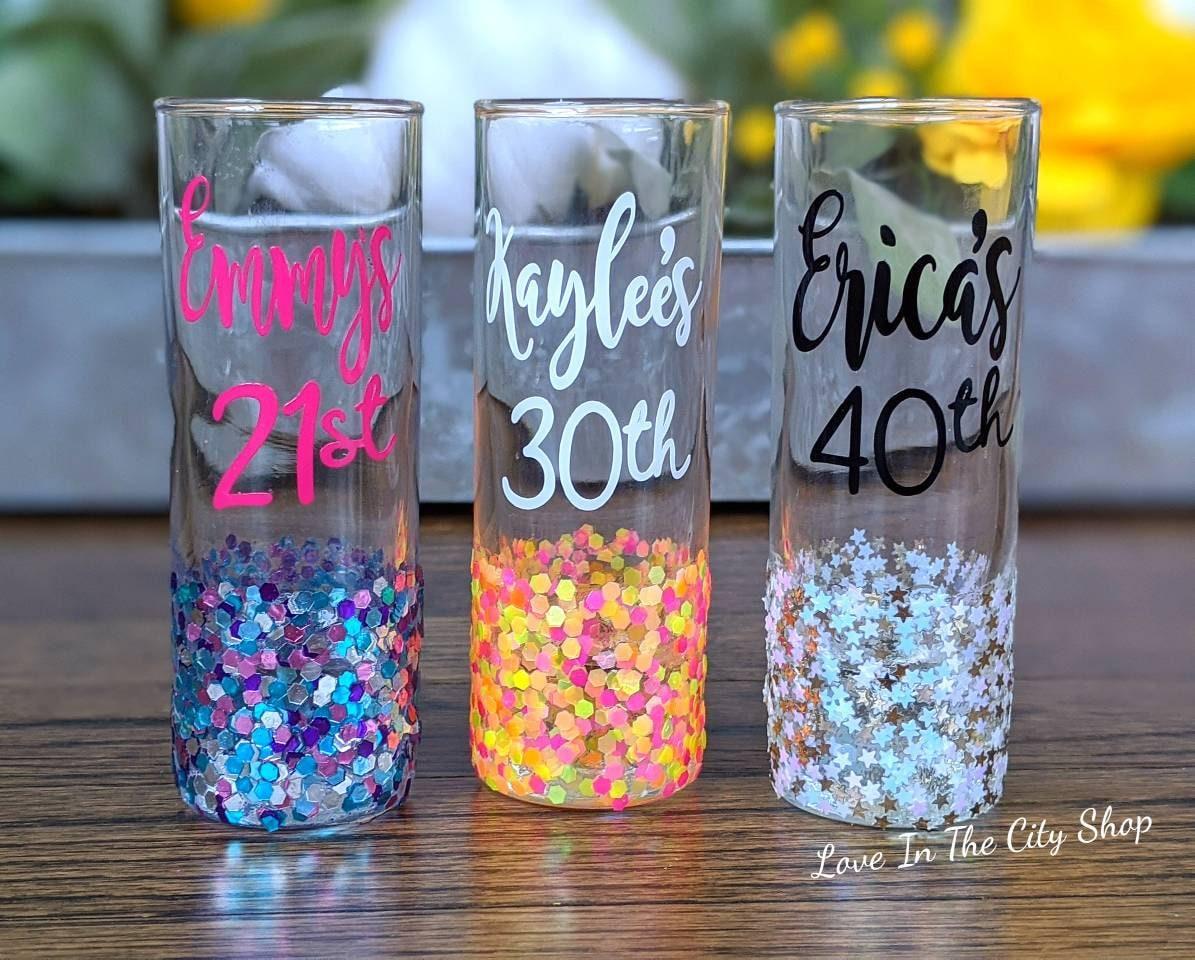 21st Birthday Shot Glass 30th Birthday Shot Glass 40th Shot Etsy