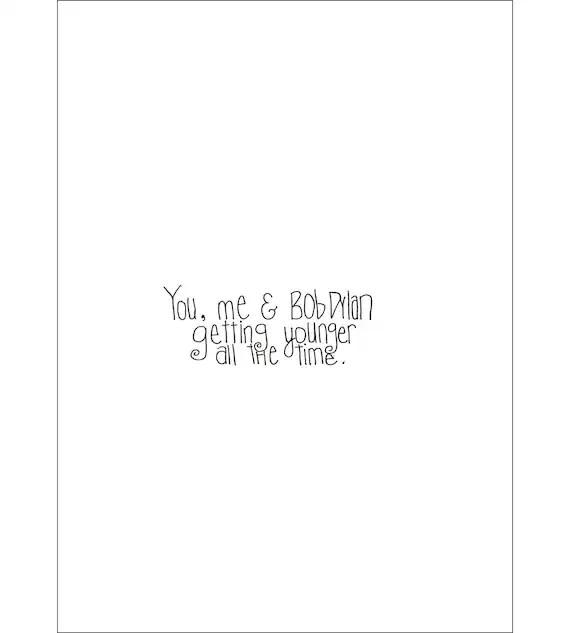 Bob Dylan Birthday Card Etsy