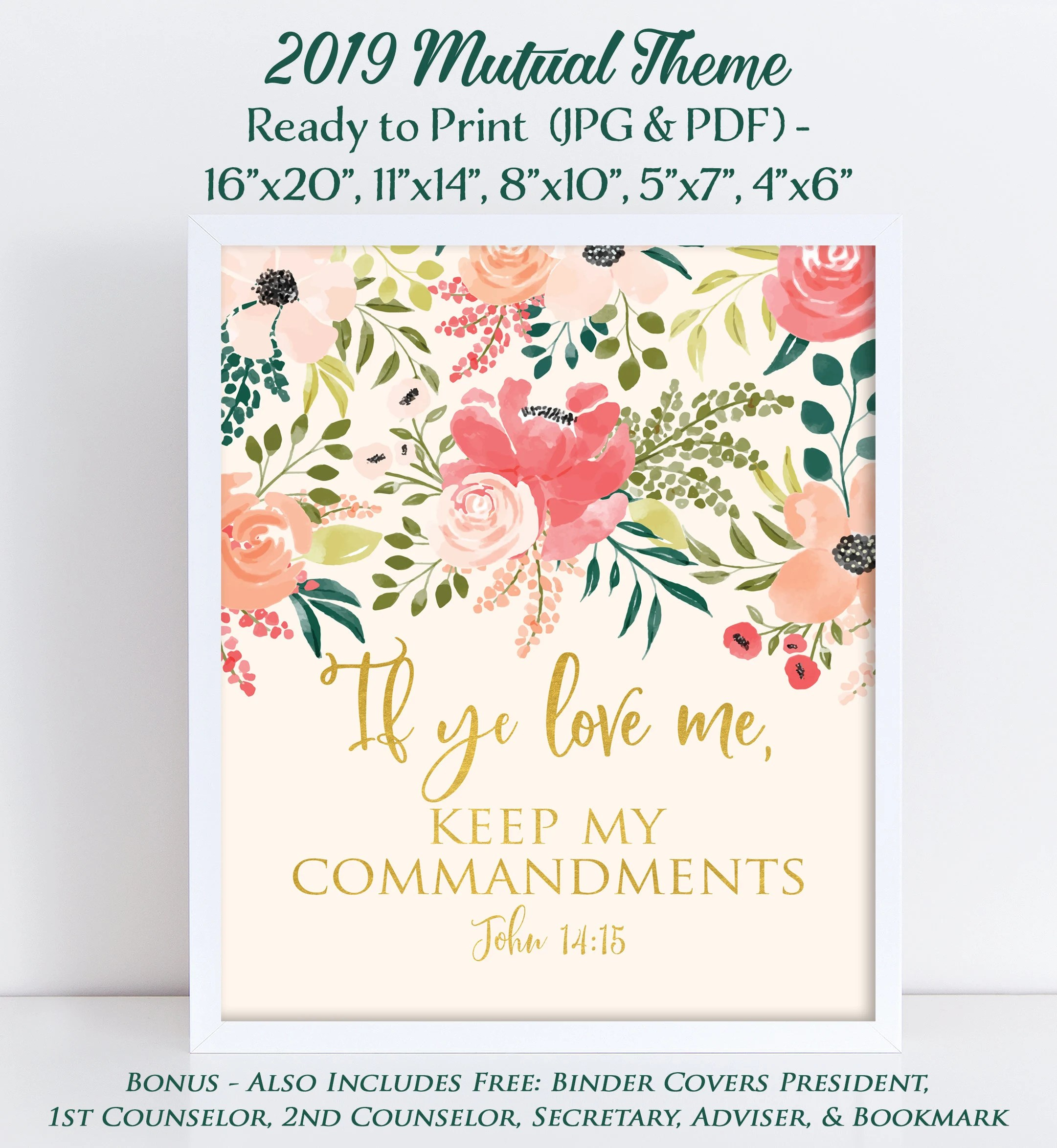 Lds Young Women Theme Mutual Theme If Ye Love Me