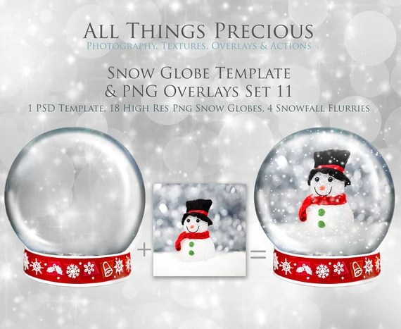 Christmas Snow Globe Png Overlays And Psd Template No 11 Digital Snow Globe Photoshop Overlays High Res Snow Clipart Glass Dome By Atptextures Catch My Party