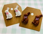 Easter Bunny Stud Earrings | Easter Bunny Jewelry
