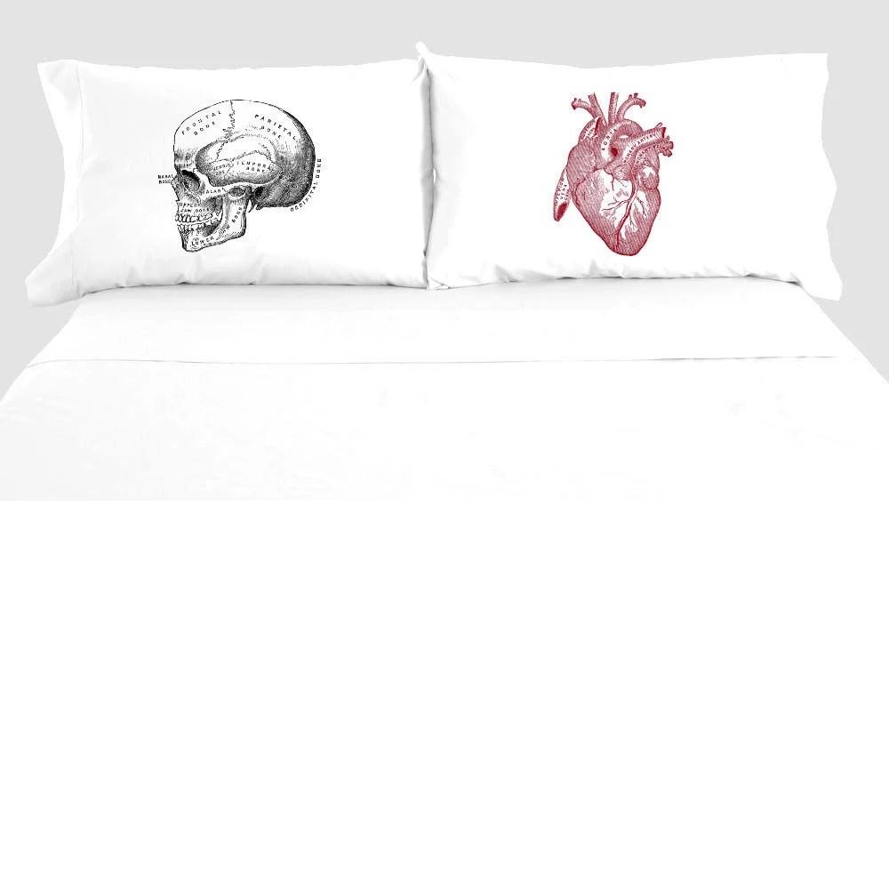 skull pillowcase etsy