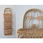 Wicker Wall Basket Hanging Woven Boho Decor