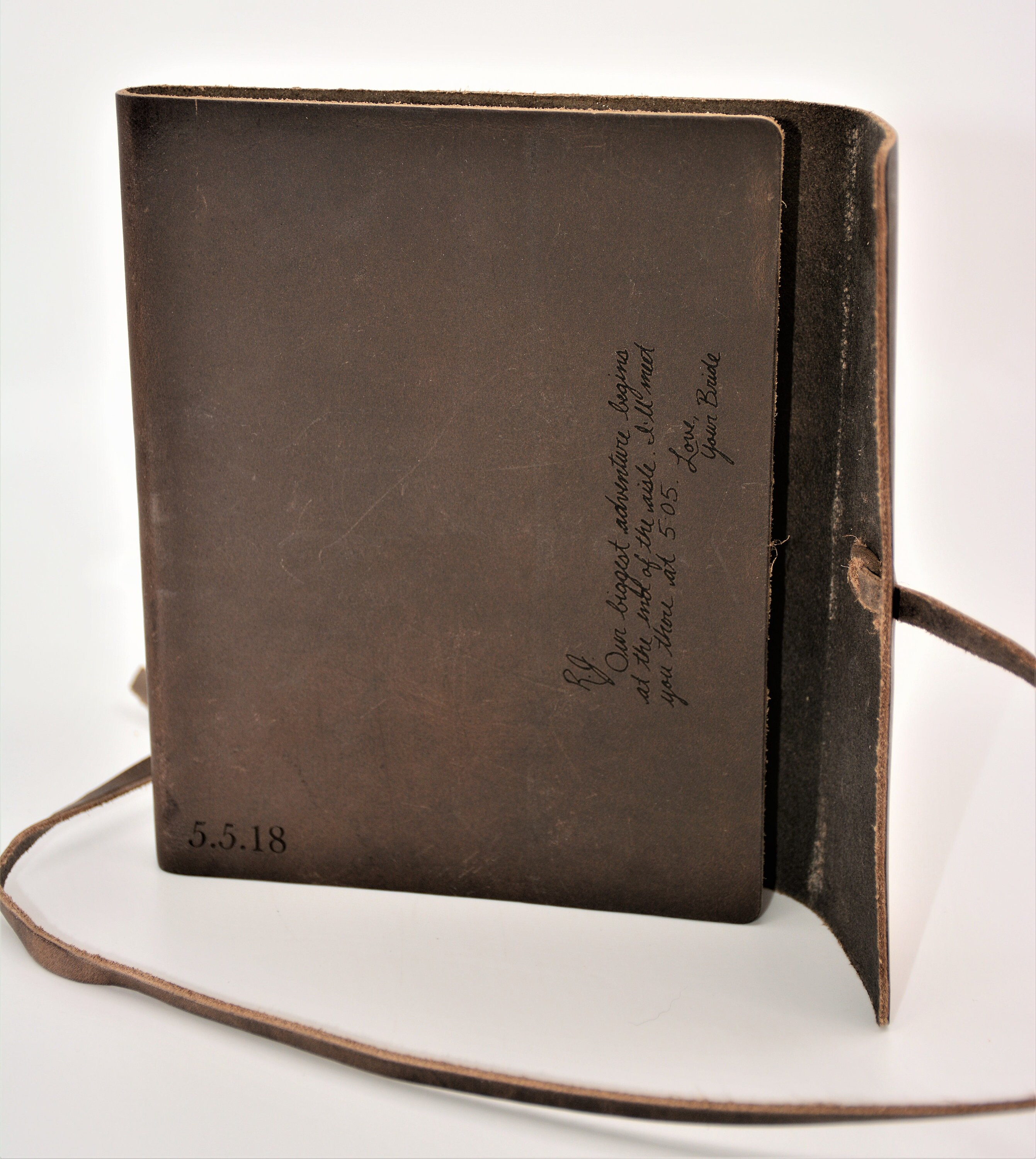 Premium Leather Journal Personalized Custom Engraved image 5