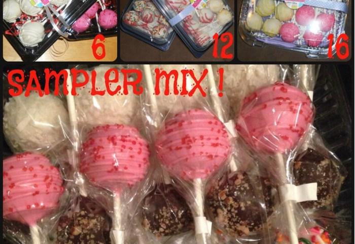 Sampler Box Of Cake Pops 6 12 Or 16 In Ea Box You Choose Etsy
