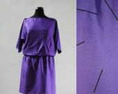 1980s Purple Kimono Sleev...