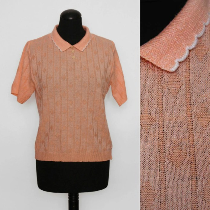 1970s Scalloped Collar Pe...