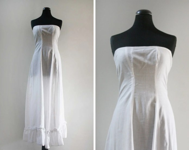Vintage Cotton Strapless ...