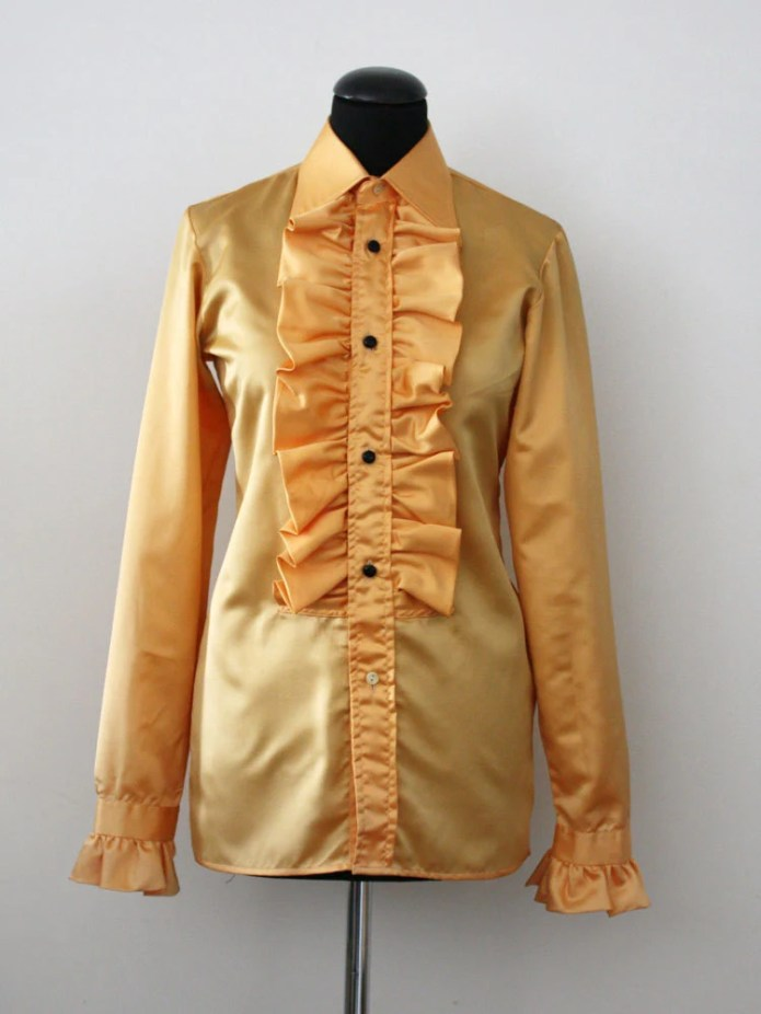 1970s Frilled Amber Eveni...