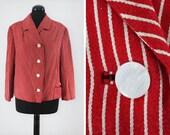 1940s Needene Red and Whi...