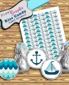 Baby Shower Printable Anchor Nautical Hershey Kisses Labels Etsy