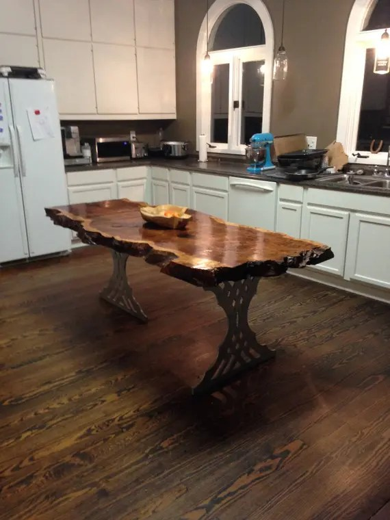 Kitchen Island Live Edge Kitchen Island Live Edge Table Etsy