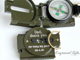 Engraved Compass Deployment Gift Soldier Military Army image 0