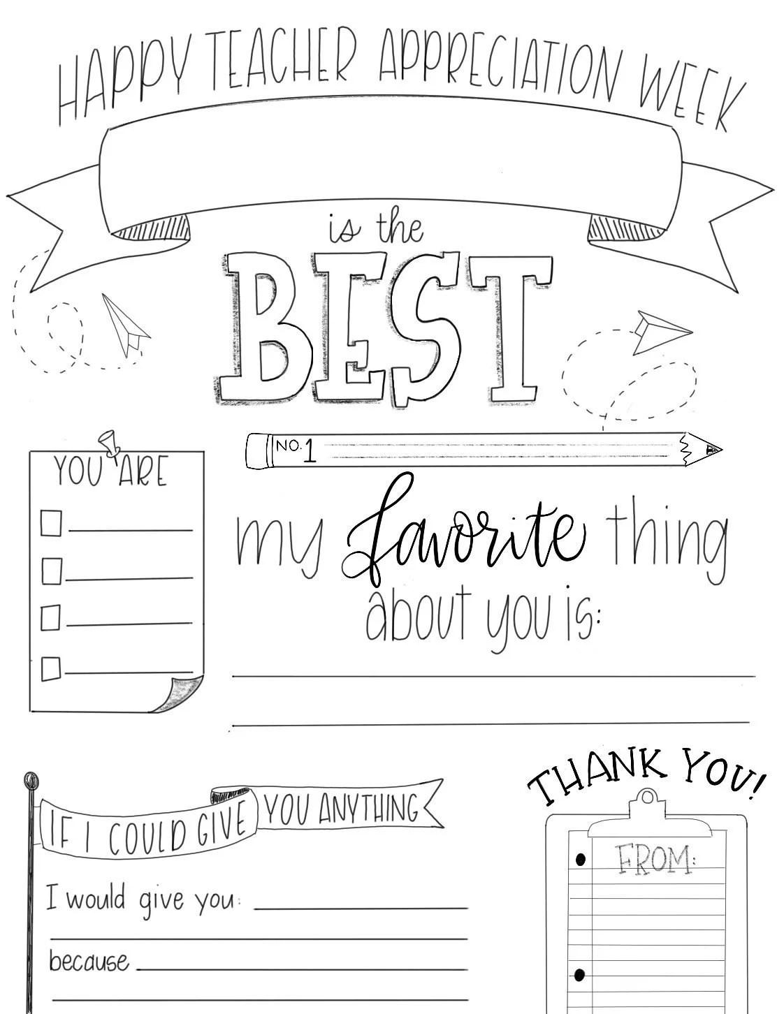Teacher Appreciation Week Customizable Download Teacher