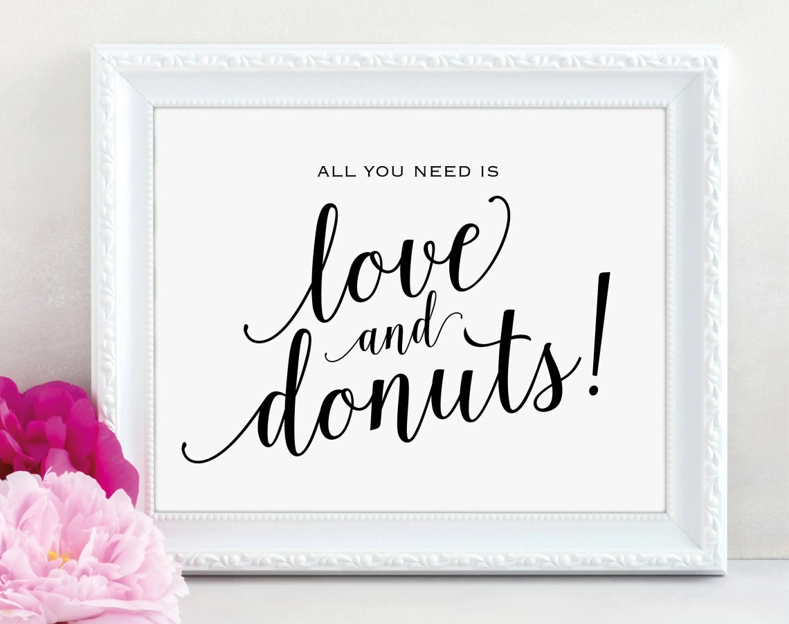 Download Love and Donuts Sign All You Need is Love and Donuts ...