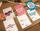 Galentine Cards / PRINTED / Valentine's Day / Valentines / Girlfriend / find me in the tub / love ya betch / not sucking / 12 pack