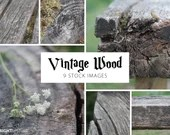 Vintage Wood Photo Set, 4000px by 3000px, instant stock photo download