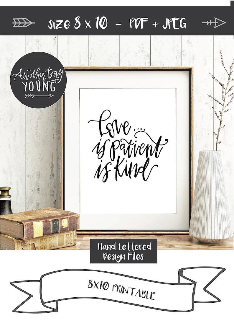 Download SVG / Love Is Patient Love Is Kind / Bible Verse svg / | Etsy
