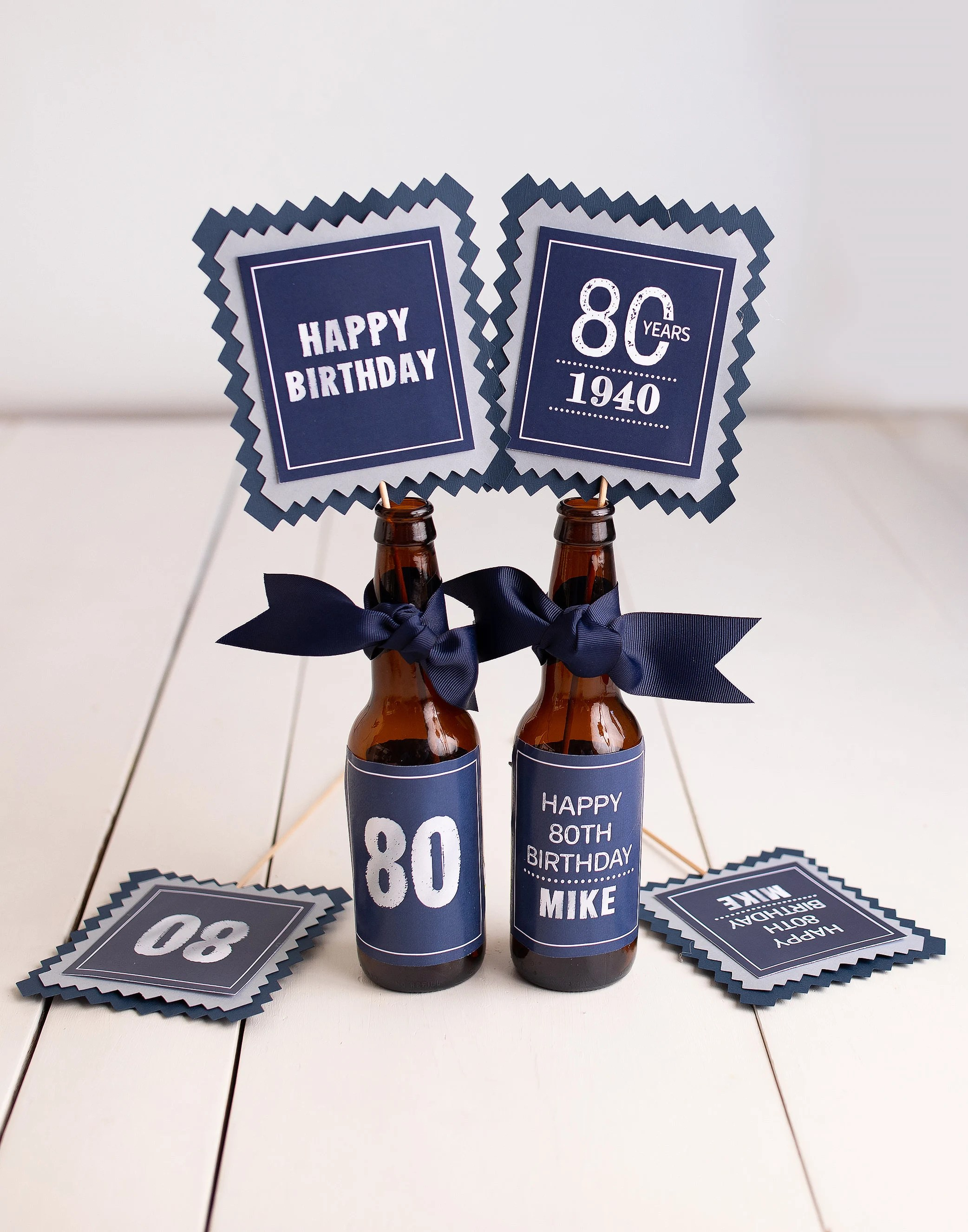80th Birthday Centerpiece Beer Centerpiece Centerpiece Sticks 80th Birthday Party Decorations Any Age