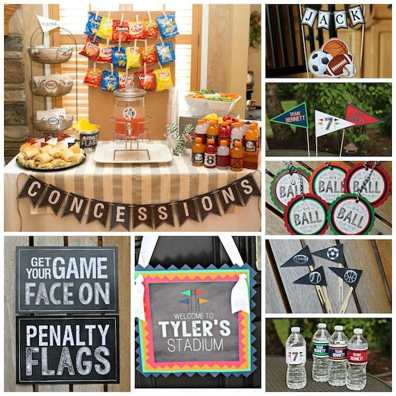 Boy Sports Theme Birthday Party Decorations All Sports Multi Etsy