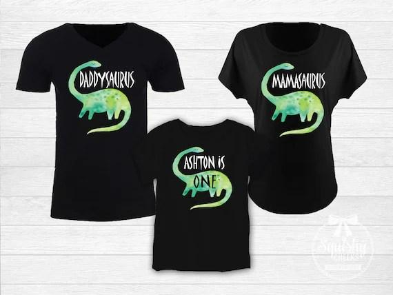 Dinosaur Birthday Family Shirts Mom And Dad Of The Birthday Etsy