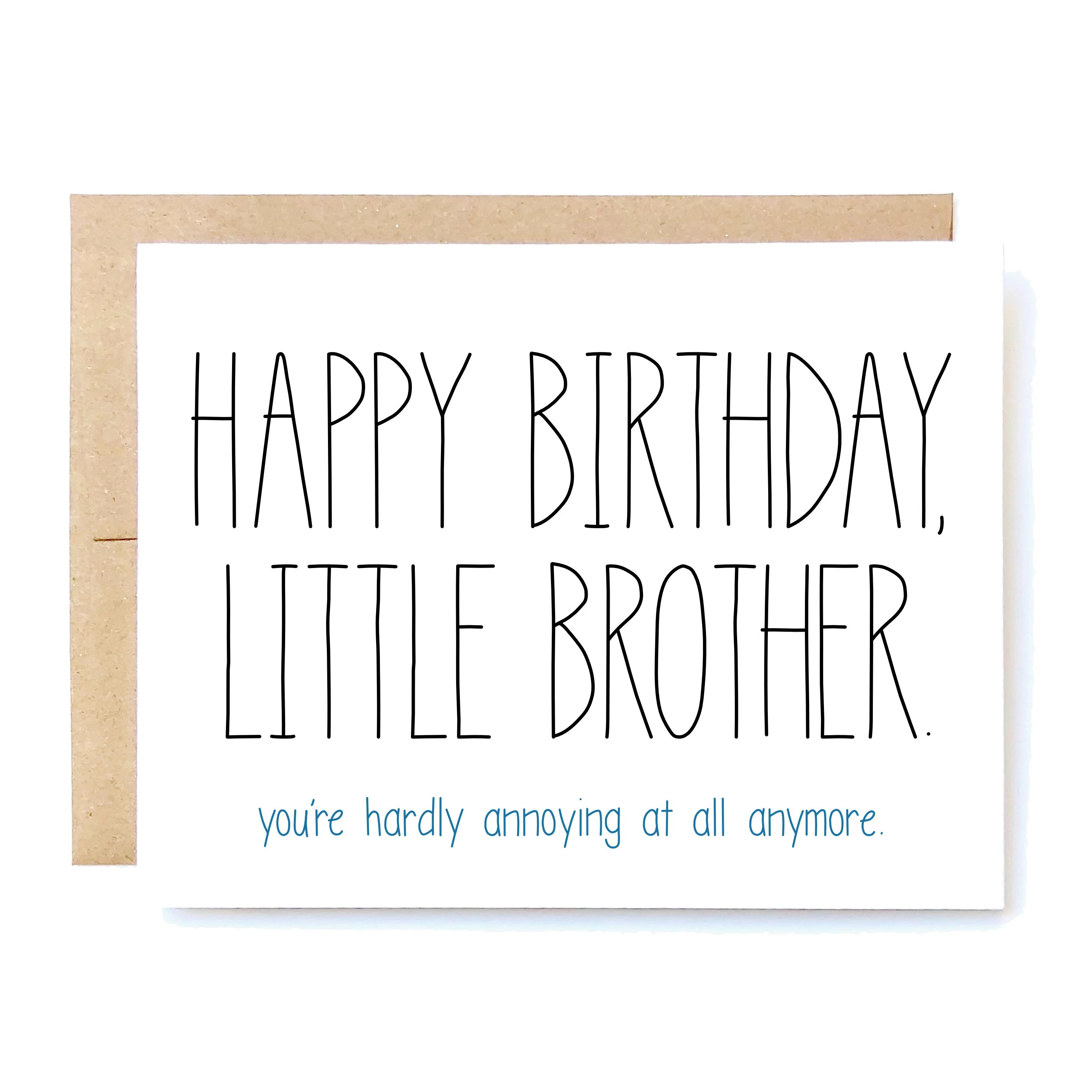 Funny Birthday Card Birthday Card For Brother Brother Etsy