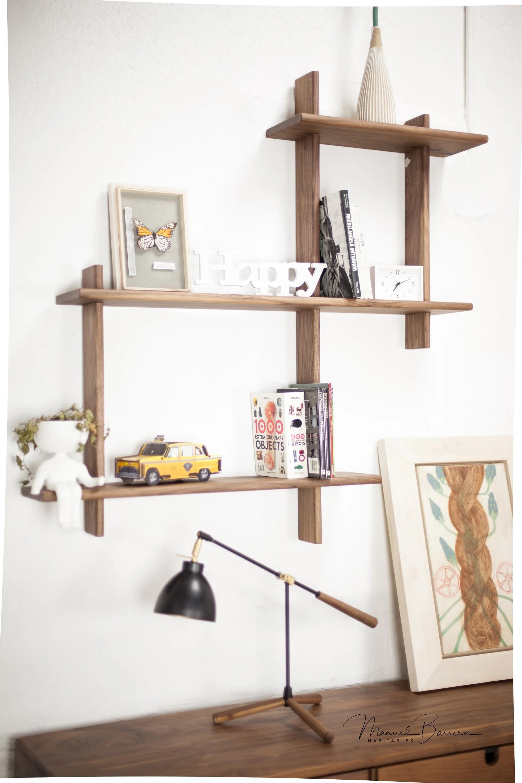 Floating Shelf Solid Wood Shelf Bookshelf Wall Shelving