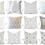 Grey Pillow Covers Gray Pillows Grey Couch Accent Pillows