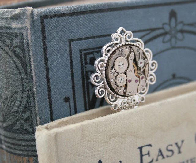 Metal Bookmark Steampunk Accessories | Graduation Gift Book Mark Gifts for Avid Reader.