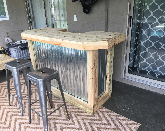 patio bar etsy