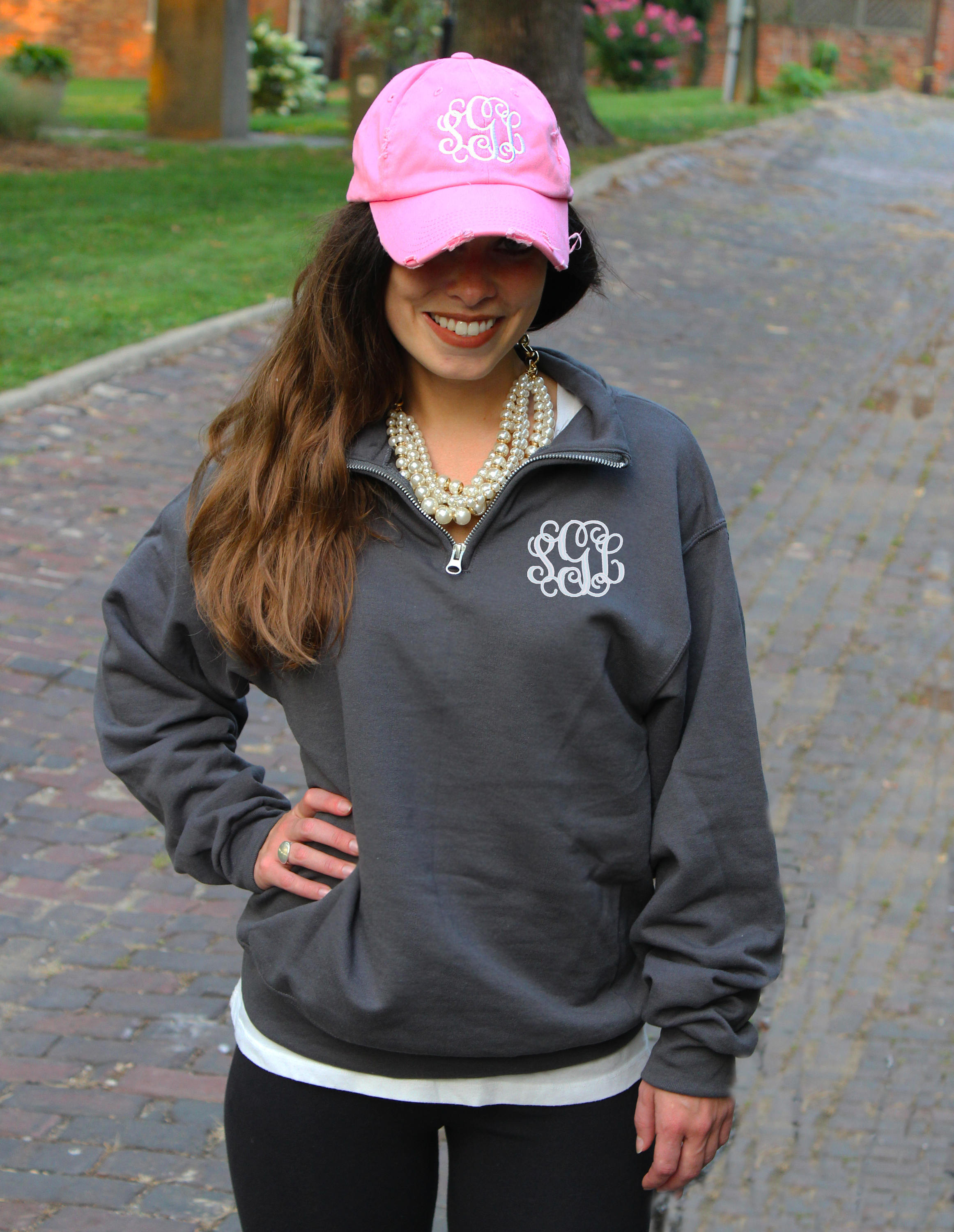 FREE Shipping  Monogram Pullover  Personalized Quarter Zip image 2