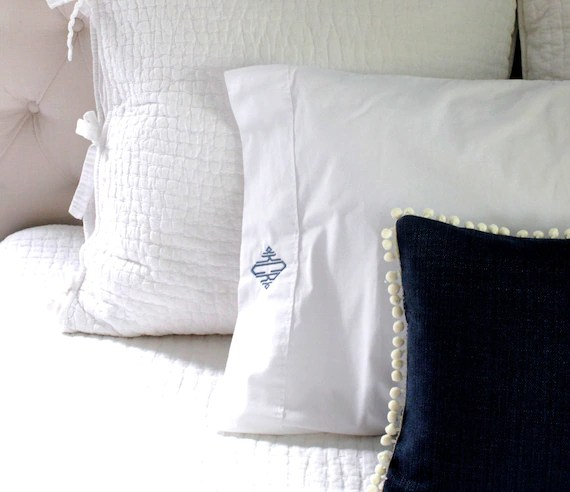 monogrammed pillowcase set personalized pillowcases couple pillowcases wedding gift personalized couple shower gift