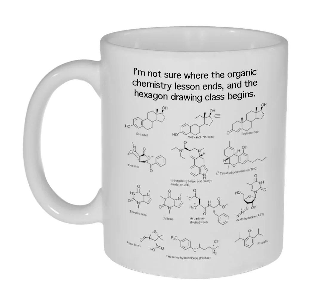 Organic Chemistry Hexagon Drawing Class Mug 11 Ounce