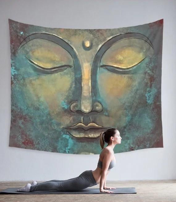Buddha Tapestry Rustic Buddha Zen Bedroom Decor Sacred Etsy